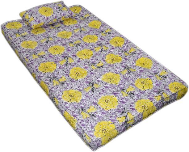 Bhooom Kapok ilavam Panju Yellow 6 inch Single Fiber Mattress