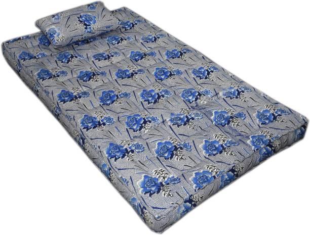 Bhooom Kapok ilavam Panju Blue 6 inch Single Fiber Mattress