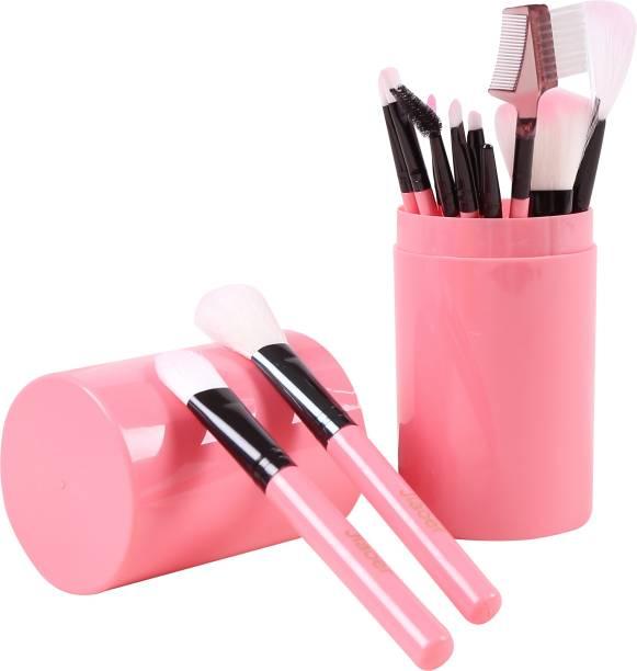 JIAOER MB012_01 Makeup Brush Set with Pink Storage Box