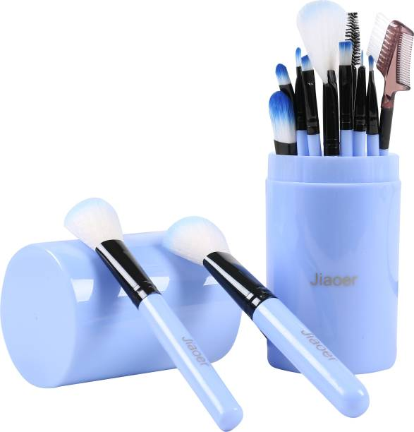 JIAOER MB012_03 Makeup Brush Set with Blue Storage Box