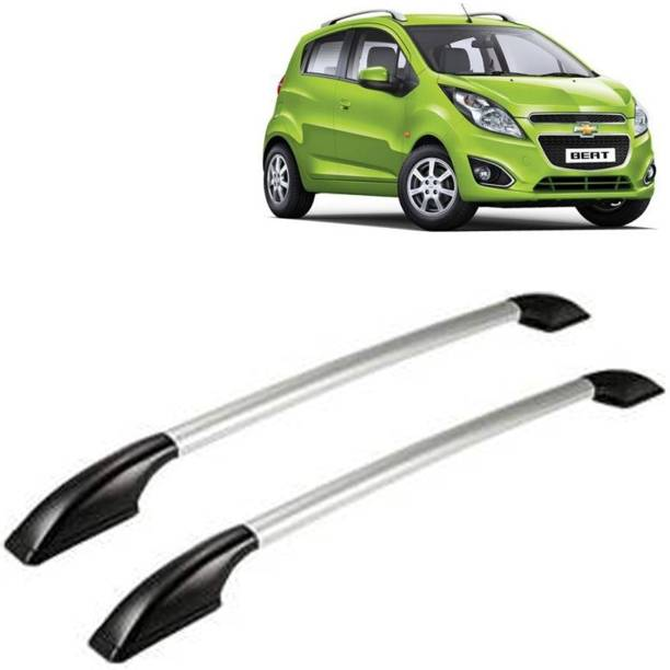VOCADO Exclusive Car Stylish Drill free Roof Rails Black & Silver For Chevrolet Beat Car Beading Roll For Bumper, Grill and Garnish Cover, Window