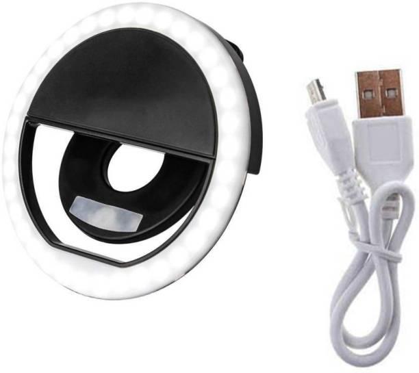 PHOLOR Selfie Ring Light,36 LED Ring Selfie Light 3 Adjustable Levels of Brightness Lighting Night Selfie Enhancing for All Smartphone, Tablet Flash