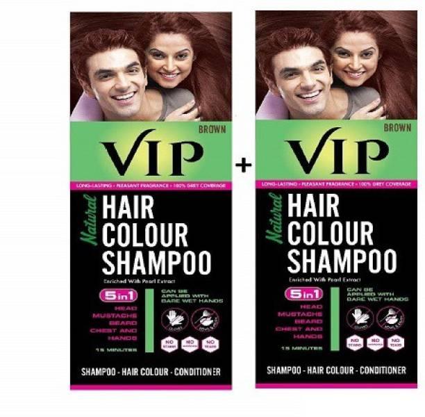 VIP HAIR COLOR SHAMPOO BROWN , BROWN