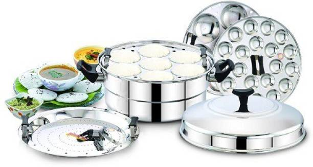 DIAMOND Induction And Standard Idly Cooker with Steamer Plate-14Idlies Induction & Standard Idli Maker
