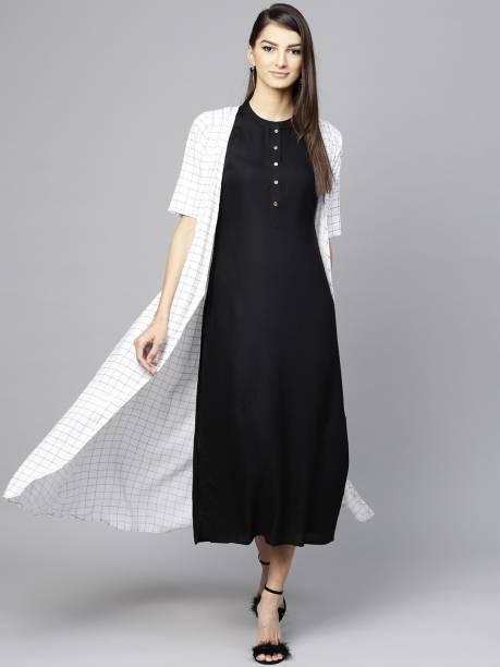 LIBAS Women Solid Ethnic Dress Kurta