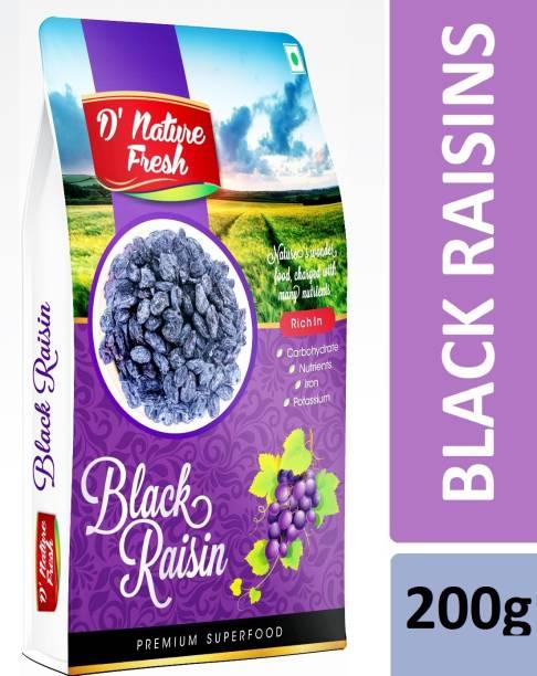D NATURE FRESH Black Raisins 200g (Box) Raisins