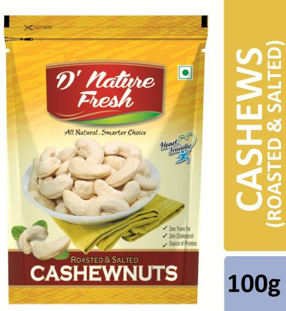 D NATURE FRESH Roasted & Salted 100gm Cashews
