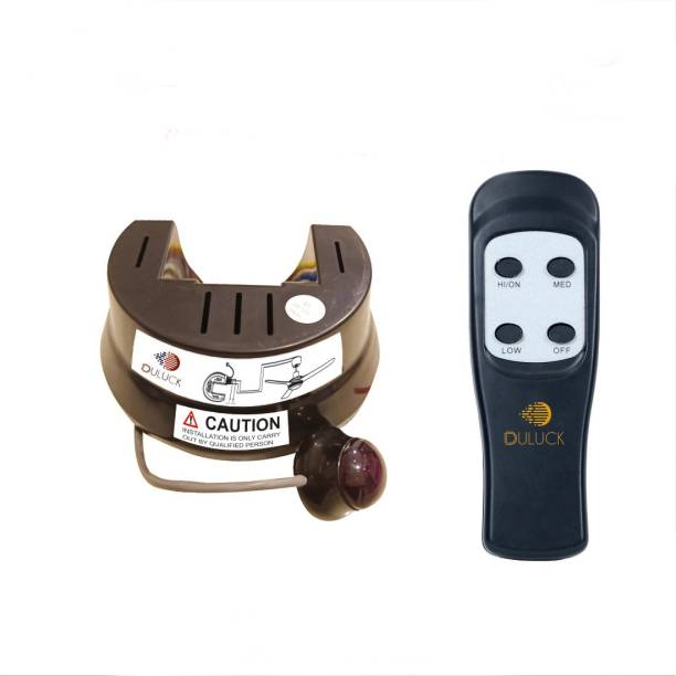 """Duluck Wireless Remote Fan Regulator and Fan Controller. It's good for elderly people, it's suitable for any old & new fan up to 100 Watts, Remote works from a distance of 20 ft. It's good to control fan speed and keep healthy by avoiding cold, headache, body pain, fever, etc. It's compatible with any """"Wifi IR universal remote"""" cum """"Wifi-IR blasters"""", model KB-01 Smart Kit"""