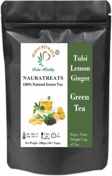 Nauratreats Tulsi Lemon Ginger Green Tea Tulsi, Lemon, Ginger Green Tea Pouch