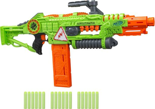 Nerf Revoltinator Zombie Strike Blaster, Motorized Lights Sounds & 18 Darts For Kids, Teens and Adults Guns & Darts