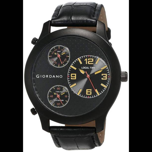 GIORDANO 60058 DTLM Black/Yellow (P11200) Analog Watch  - For Men