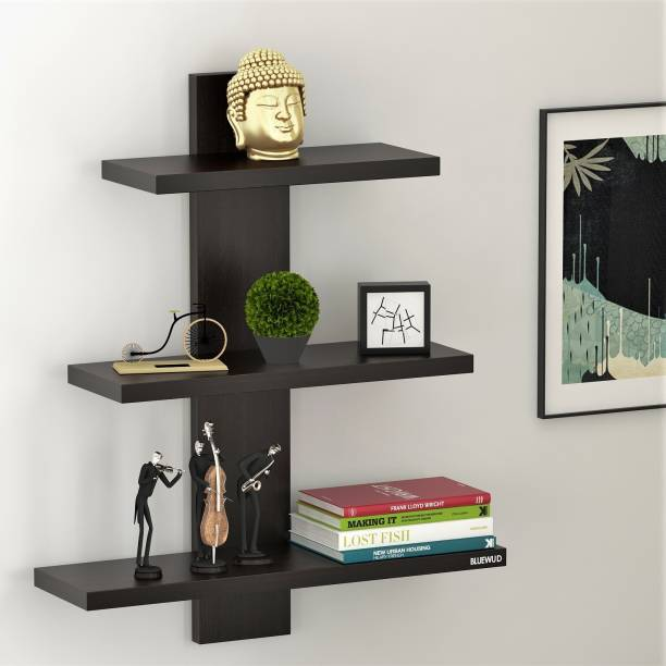 BLUEWUD Phelix Engineered Wood Open Book Shelf