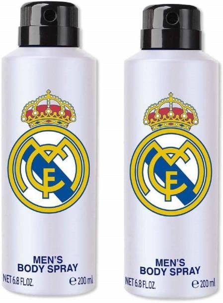 Real Madrid White Combo Pack Of 2 Deodorant Spray Deodorant Spray  -  For Men