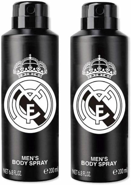 Real Madrid Original Black Combo Pack Of 2 Deodorant Spray Deodorant Spray  -  For Men