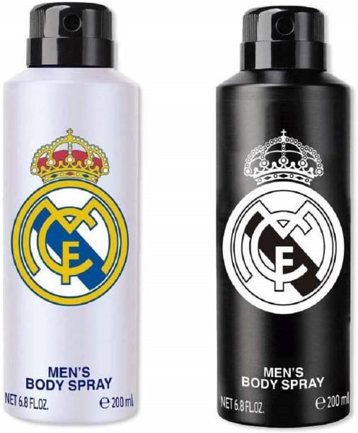 Real Madrid Original Black & White Combo Deodorant Spray Deodorant Spray  -  For Men