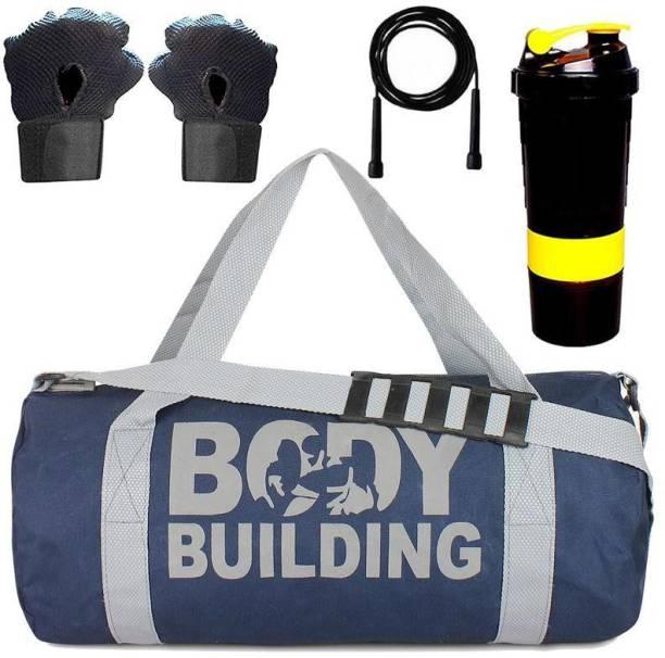 5 O' CLOCK SPORTS gym bag for men combo Black Body building Gym Gym & Fitness Kit