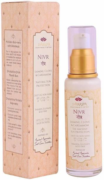 Svarasya NIVR - NATURAL SUNSCREEN SPF 21 (Jasmine, Clove & Cardamom) - SPF 21 PA+++