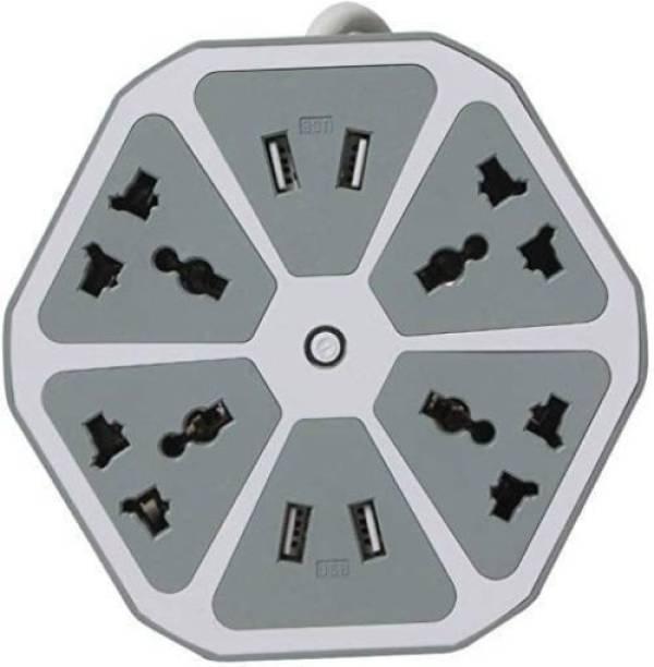 anveksha 4-USB Hexagon Power Socket 6  Socket Extension Boards