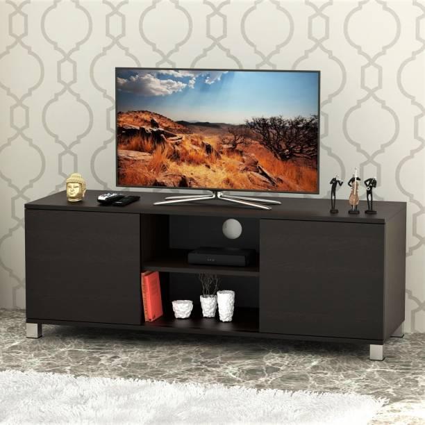 Bluewud Harmond Engineered Wood TV Entertainment Unit Finish Color   Wenge