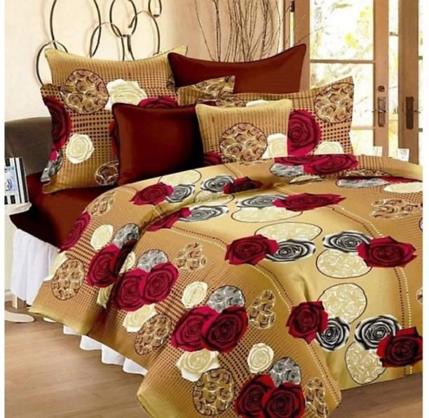 RISING STAR 120 TC Microfiber Double Floral Bedsheet