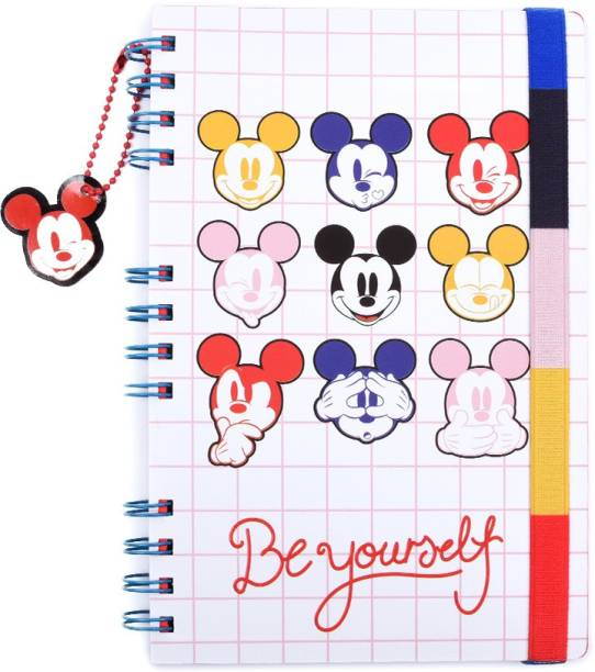 doodle Mickey Mouse (Faces) Notebook A5 Notebook Ruled 160 Pages