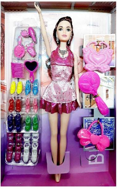 gorgeous moment TOY Girl Doll with Accessories Toy Set for Girl