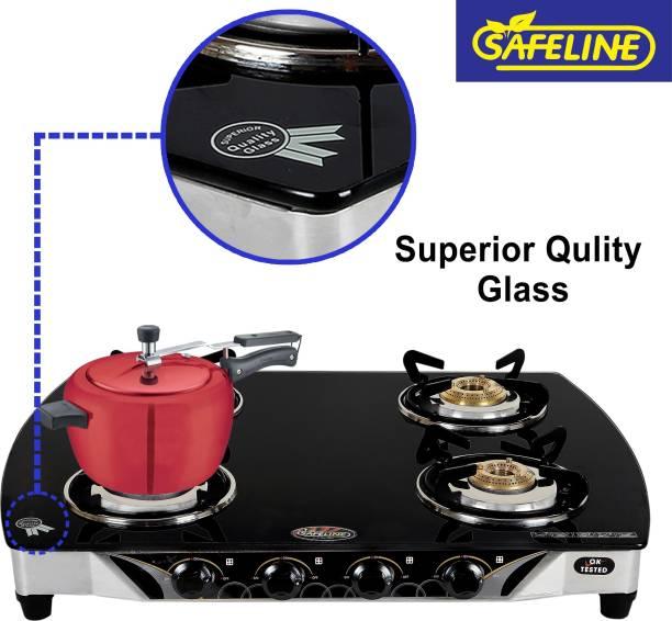SAFELINE Glass Manual Gas Stove