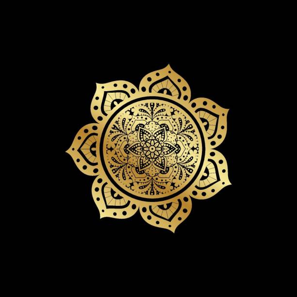 KD golden rangoli new |hindu god|religious poster Paper Print