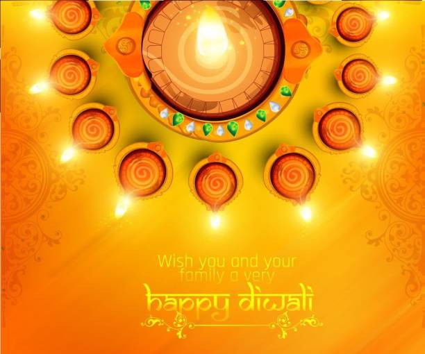 wish you and your |festival poster|diwali poster|poster for diwali|diya poster|dia poster|rangoli poster|poster for home,gym,office|12x18 inch|sticker paper poster Paper Print