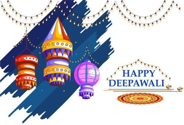 KD happy deepawali with rangoli Sticker Poster|Diwali Poster|Festival Poster| Paper Print