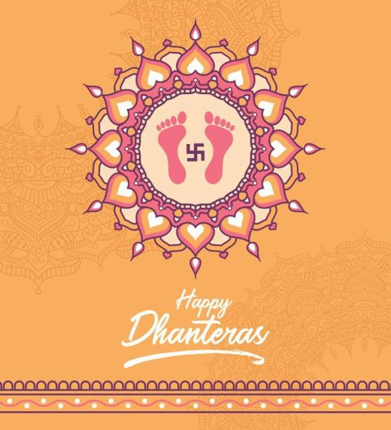 Festival Happy Dhanteras |festival poster|diwali poster|poster for diwali|diya poster|dia poster|rangoli poster|poster for home,gym,office|12x18 inch|sticker paper poster Paper Print