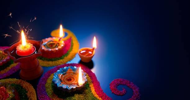 KD colorful rangoli Sticker Poster|Diwali Poster|Festival Poster| Paper Print
