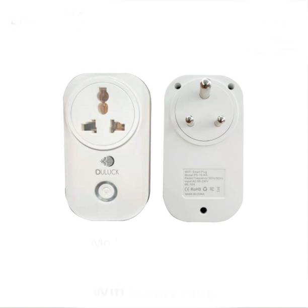 Duluck WiFi Smart Plug, IOT Plug, wifi plug, suitable for TV, Table Lamp, Computer, Allout, Phone Charger, Wall Fan, Fresh Airfan, Iron, Air purifier, it Works with Alexa, Duluck & Ok Google Smart Speakers, WPC & ETA certified, Max load capacity 2400-Watt resistive. Model (PS-16-MA) Smart Plug