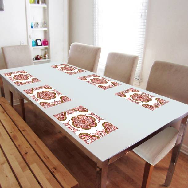 DECOTREE Rectangular Pack of 6 Table Placemat