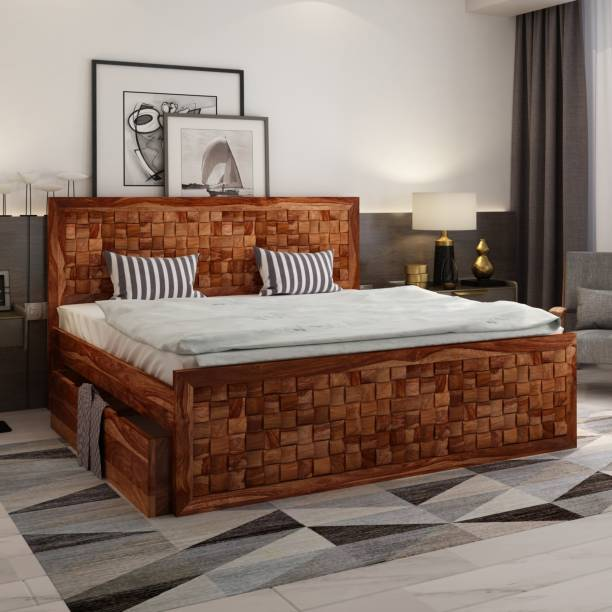 Solid Wood Beds Online At Discounted Prices On Flipkart