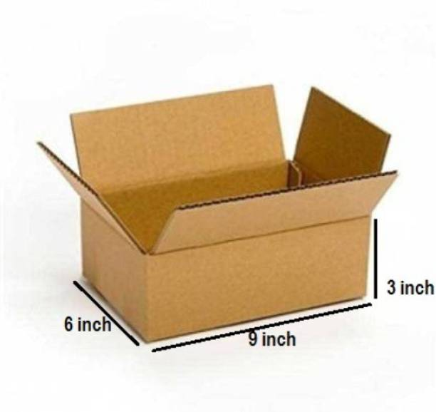 Boxzie Corrugated Cardboard 3 Ply Corrugated Box Size -LxWxH - 9x6x3 Inches Packaging Box