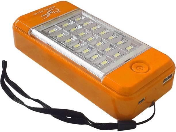 24 ENERGY USB Mobile Power Bank Cum 21 LED Light Rechargeable Solar Lantern Emergency Light