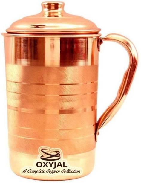 Oxyjal 2 L Water Natural Pure Copper Jug With Ayurvedic Benefits Jug