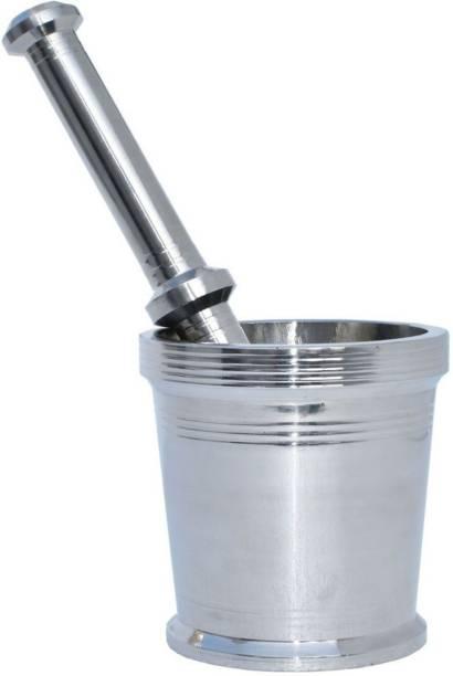 S K Product MORTAR & PESTLE /STEEL KHALBATTA NO.1 (Dia : 6.75cm H: 5.75cm) Stainless Steel Masher