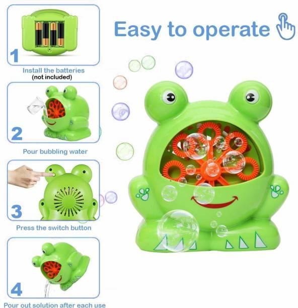 Wembley Toys Crazy Frog Bubbles Automatic Bubble Blowing Machine Toy Bubble Maker