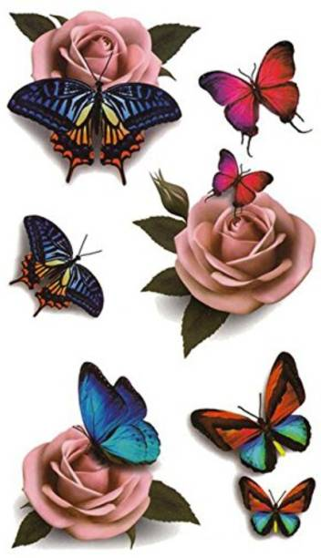 voorkoms Rose Butterfly body tattoo