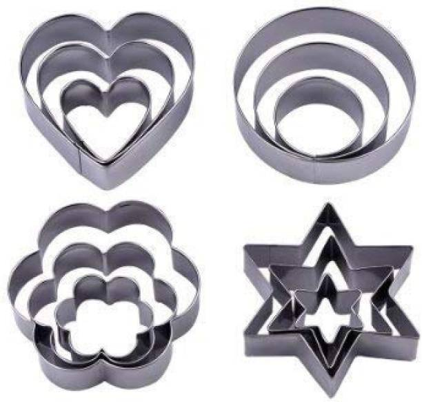 DEZIINE Perfect 12 Pcs Set Cookie Cutter for Making Good Cookie. Cookie Cutter