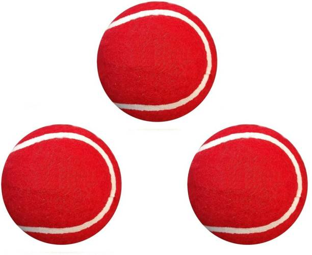 Fervor Spel Red Ball Combo 3 Cricket Tennis Ball