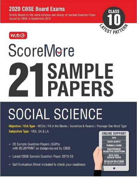 Scoremore 21 Sample Papers Cbse Boards Class 10 Social Science