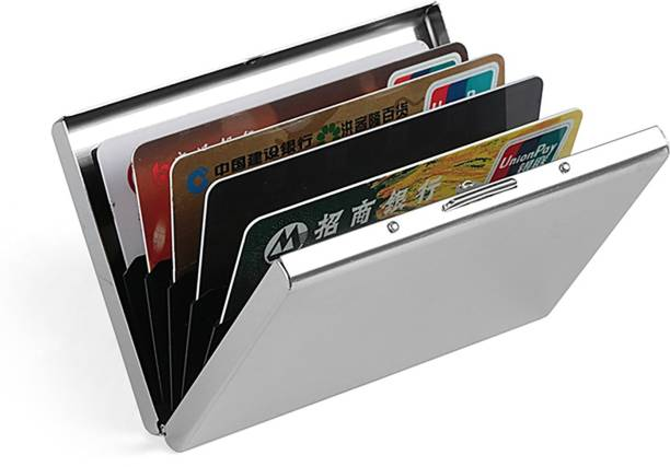 Flipkart SmartBuy High Quality Silver Stylish Waterproof Executiv Credit/debit/ATM/ID/Visiting SUPER SLEEK, STURDY 6 Card Holder