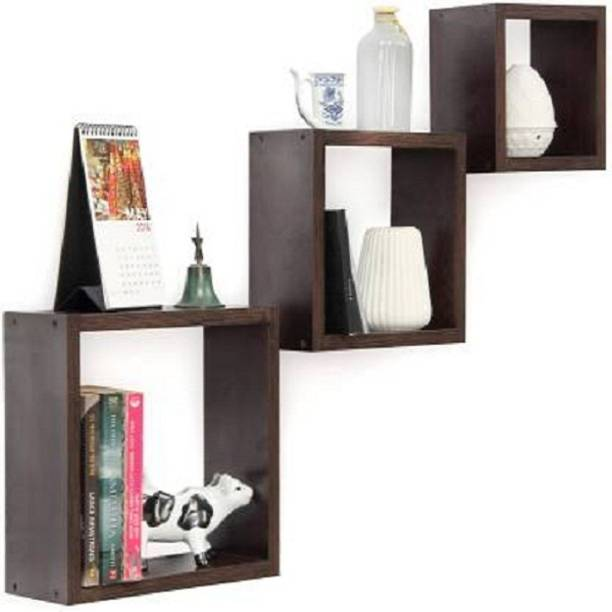 all crafts art 3 Squire wall shelf Solid Wood Display Unit