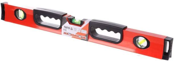 YATO YT-3022 Lacquered Surface Spirit Level 600mm Professional spirit level with three vials Non-magnetic Engineer's Precision Level