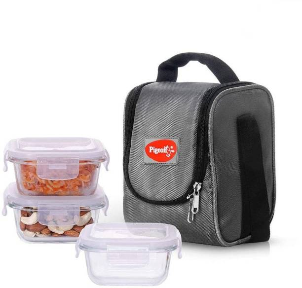 Pigeon 14340 Square Therma Fresh 3 Containers Lunch Box