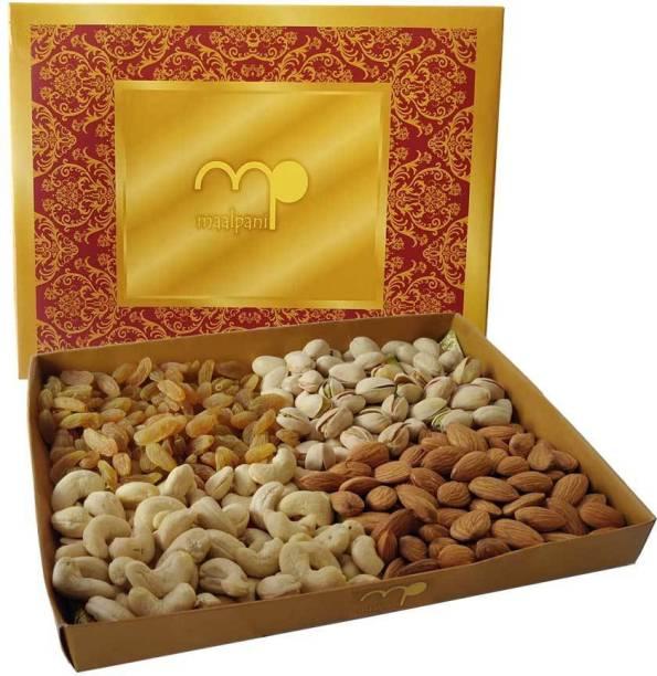 Maalpani Dry Fruit Hamper  Gift Hamper Box Pack  Diwali Gift / Rakhi gift Assorted Fruit
