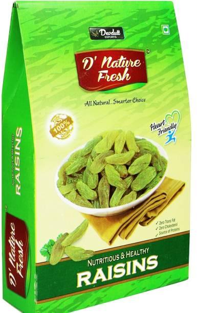 D NATURE FRESH Green Raisins 500gm (Box) Raisins